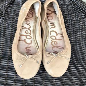 Sam Edelman women's tan ballet slippers